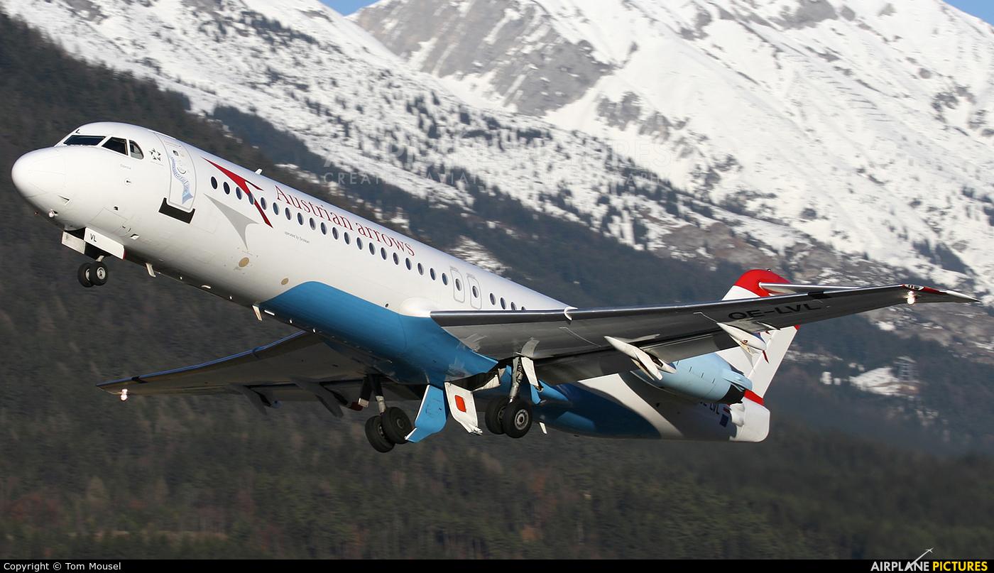 Austrian Airlines/Arrows/Tyrolean OE-LVL aircraft at Innsbruck