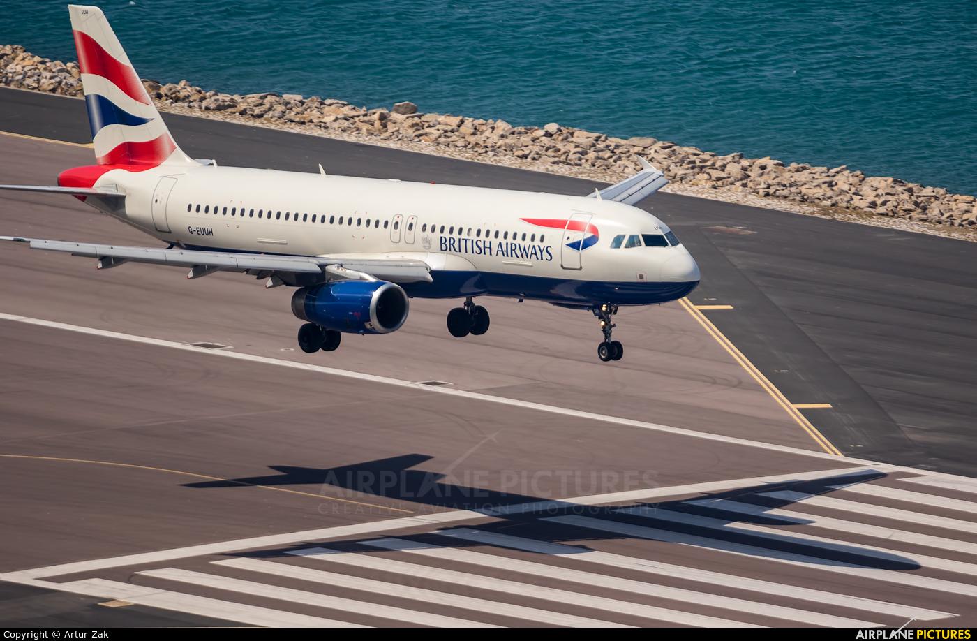 British Airways G-EUUH aircraft at Gibraltar