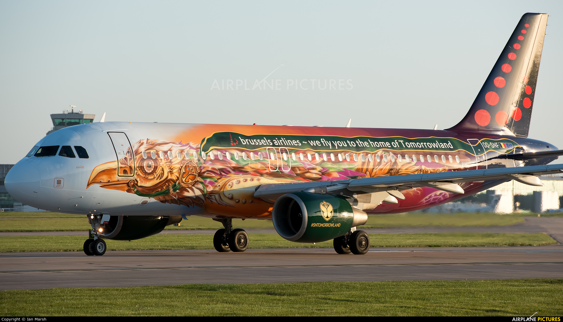 Brussels Airlines OO-SNF aircraft at Manchester