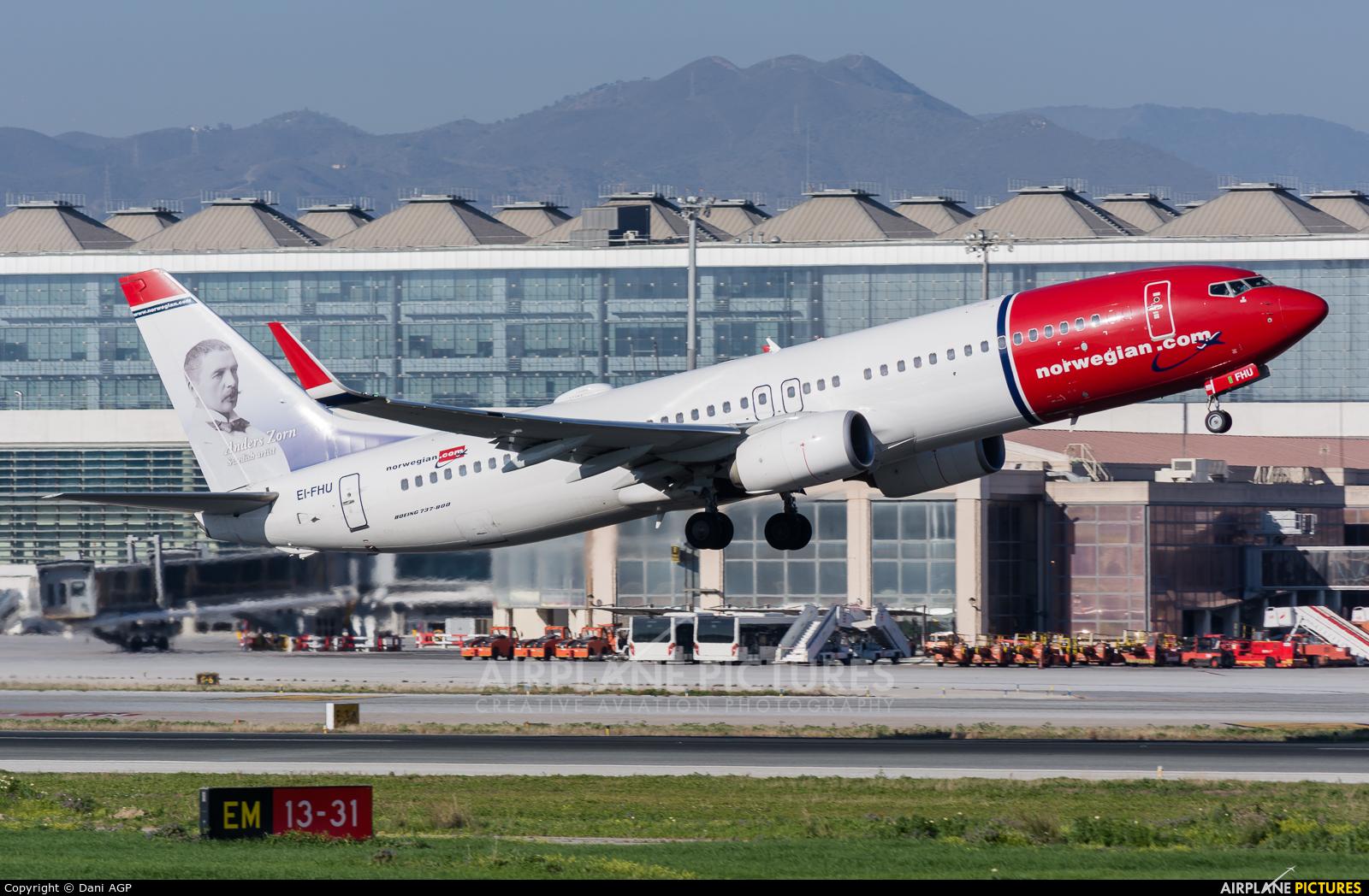 Norwegian Air International EI-FHU aircraft at Málaga