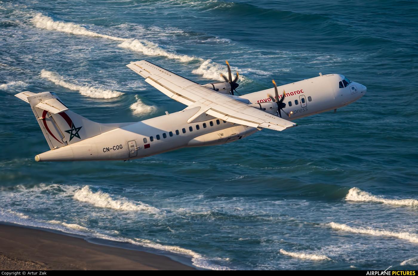 Royal Air Maroc CN-COG aircraft at Gibraltar
