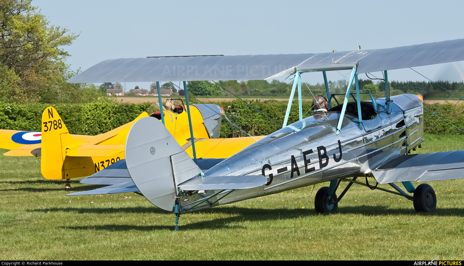 The Shuttleworth Collection G-AEBJ aircraft at Old Warden
