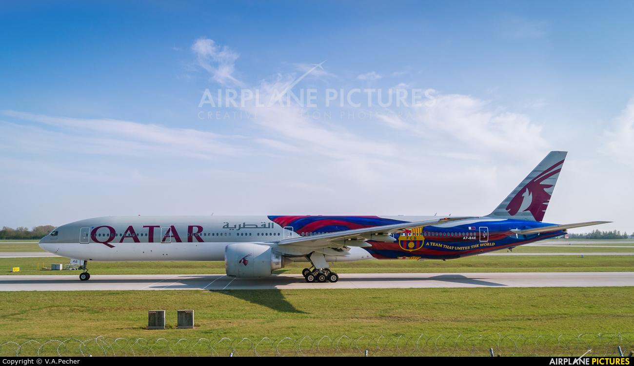 Qatar Airways A7-BAE aircraft at Munich