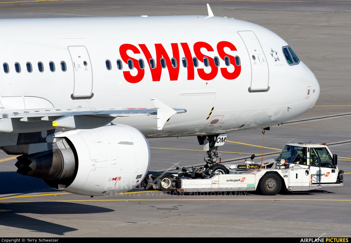 Swiss HB-IOM aircraft at Zurich