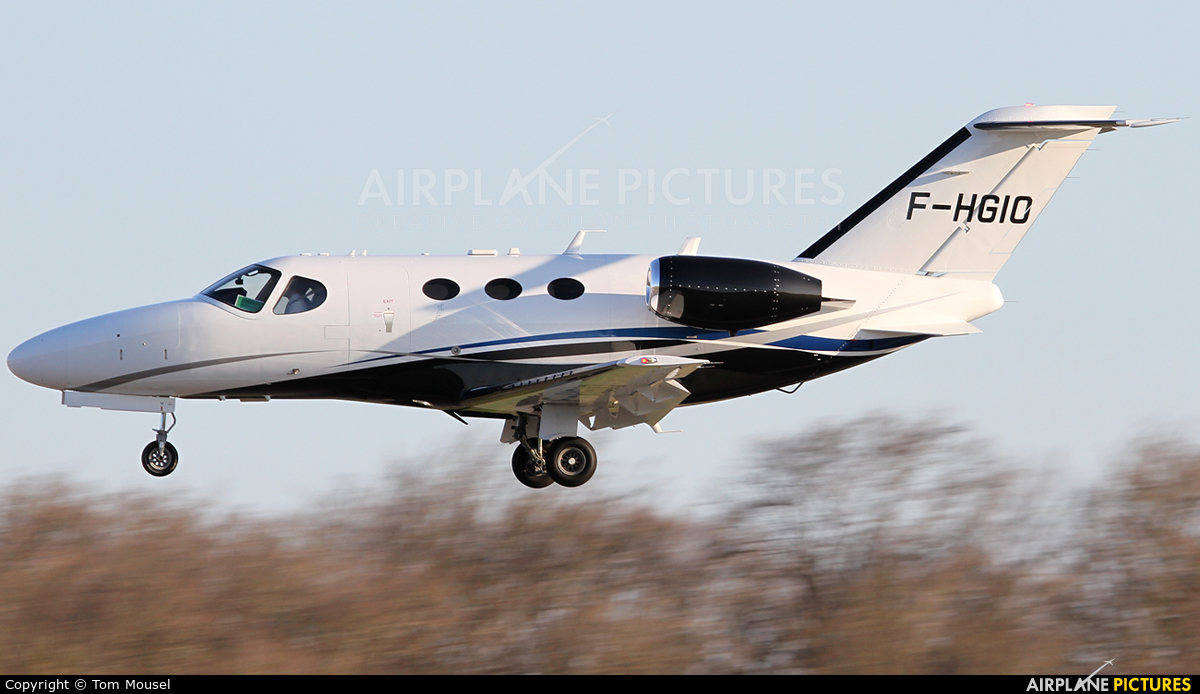 Astonjet F-HGIO aircraft at Luxembourg - Findel