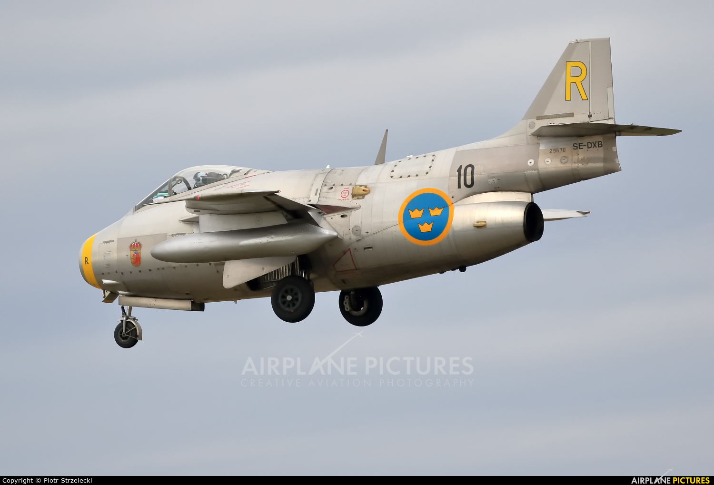 Swedish Air Force Historic Flight SE-DXB aircraft at Ostrava Mošnov