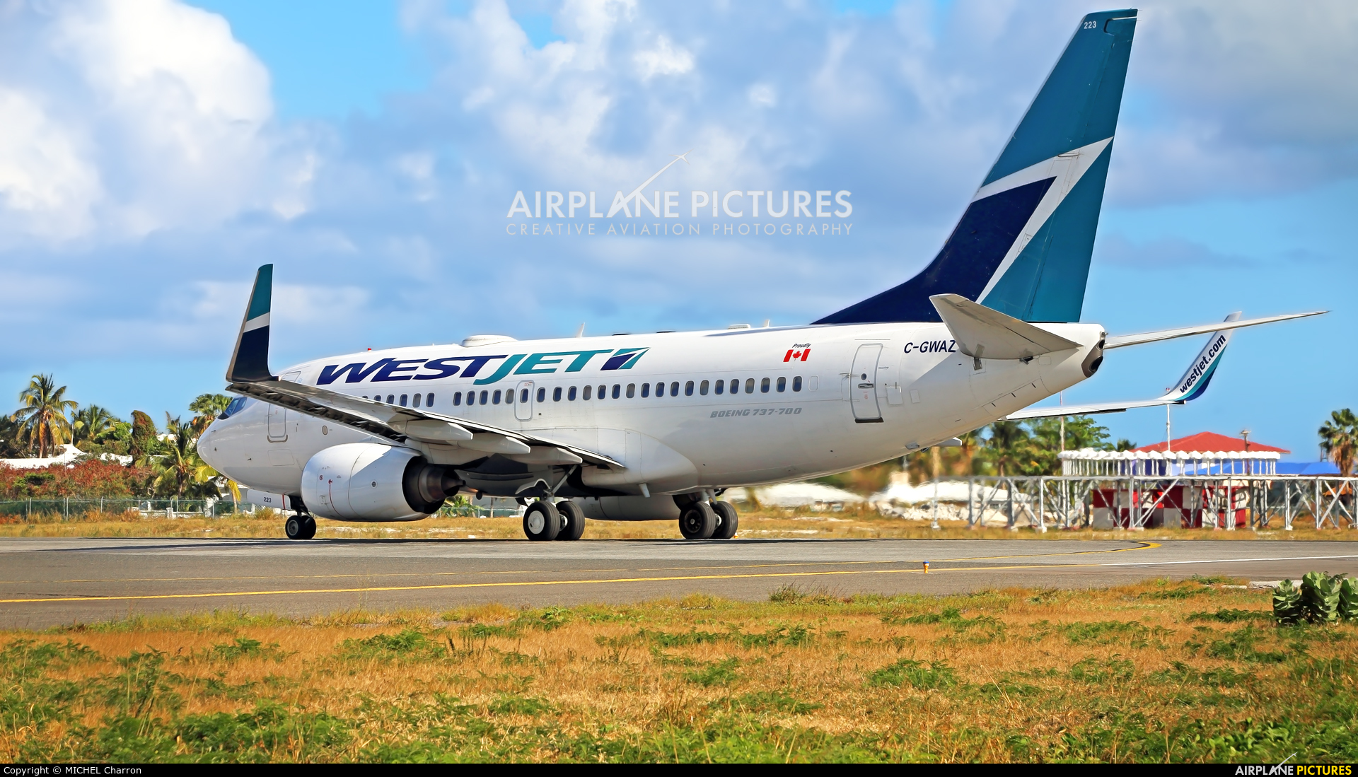 WestJet Airlines C-GWAZ aircraft at Sint Maarten - Princess Juliana Intl