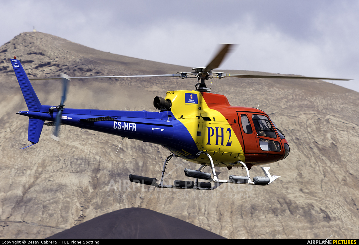 HTA Helicopters CS-HFR aircraft at Lanzarote - Arrecife