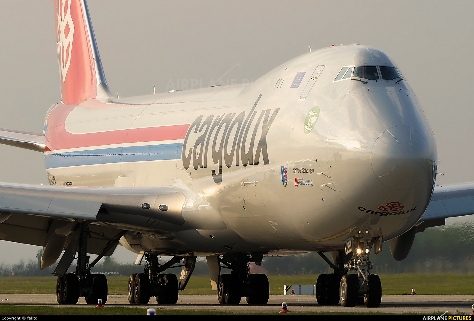 Cargolux LX-VCN aircraft at Budapest Ferenc Liszt International Airport