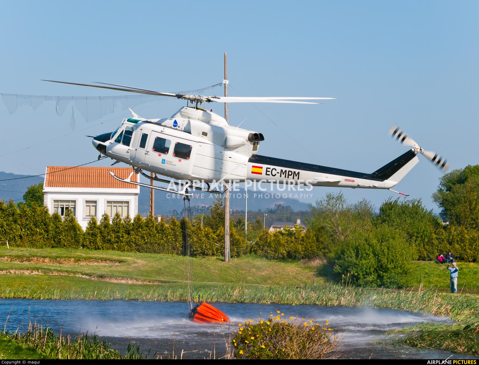 Babcock Support services EC-MPM aircraft at La Coruña - Off Airport