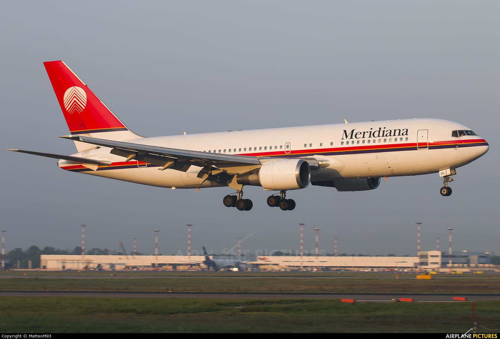 Meridiana I-AIGH aircraft at Milan - Malpensa
