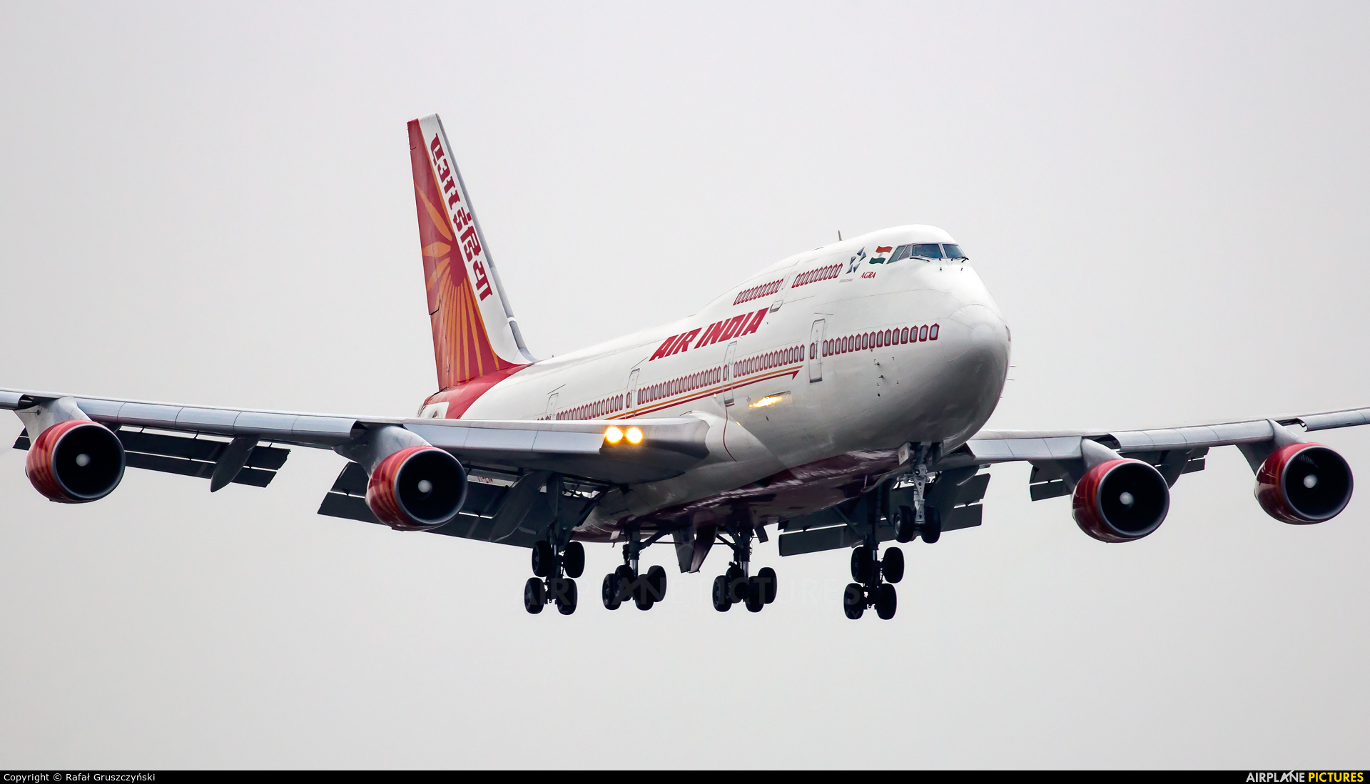 Air India VT-EVA aircraft at Warsaw - Frederic Chopin