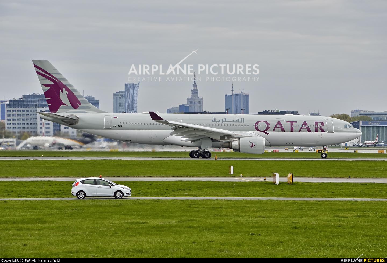 Qatar Airways A7-ACB aircraft at Warsaw - Frederic Chopin