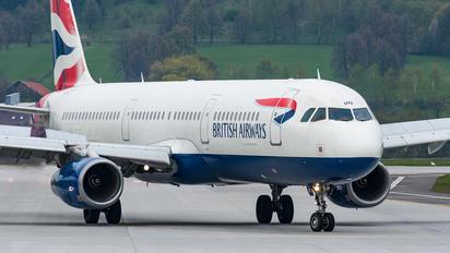 G-EUXE - British Airways Airbus A321