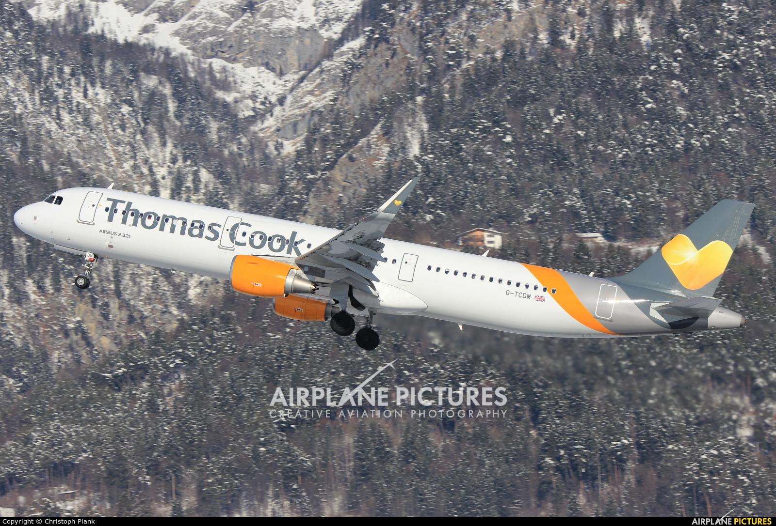 Thomas Cook G-TCDM aircraft at Innsbruck