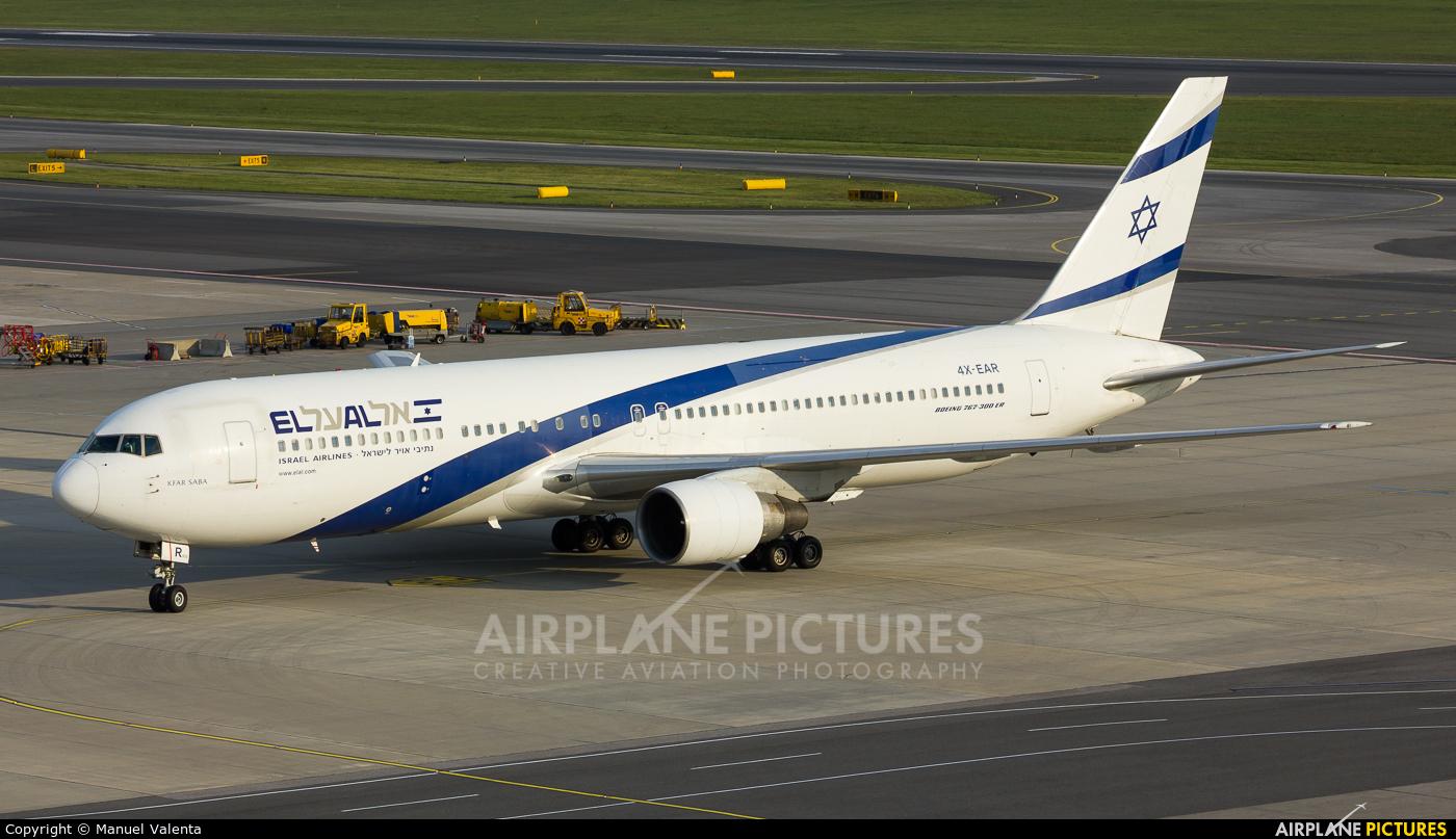 El Al Israel Airlines 4X-EAR aircraft at Vienna - Schwechat