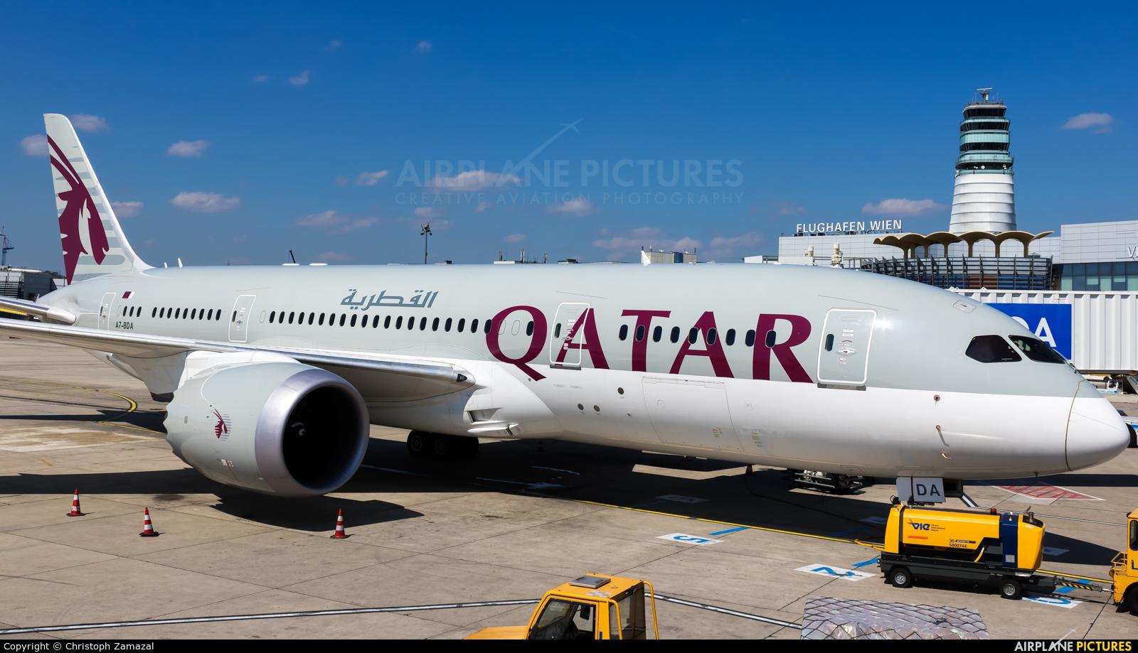 Qatar Airways A7-BDA aircraft at Vienna - Schwechat