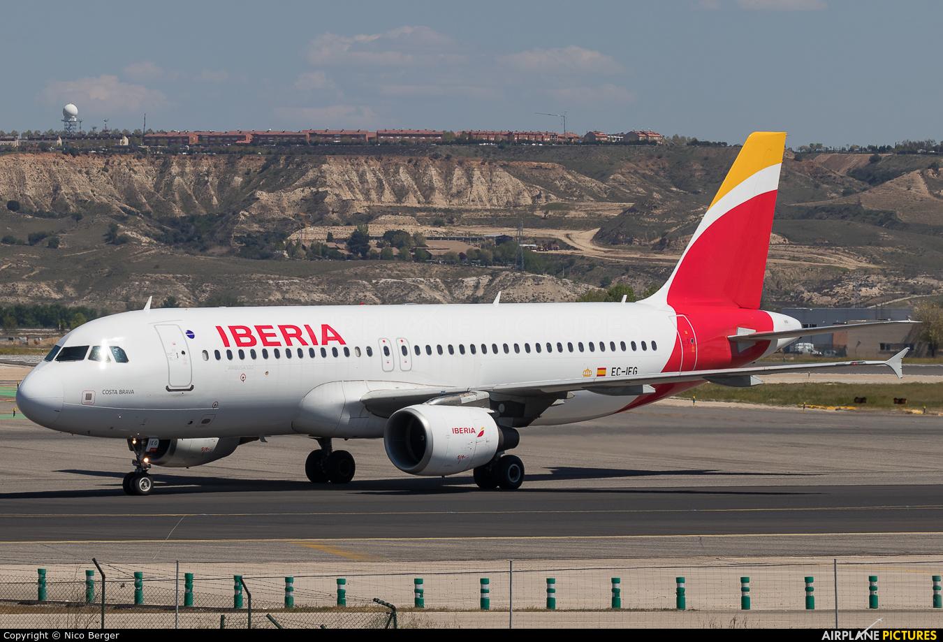 Iberia EC-IEG aircraft at Madrid - Barajas