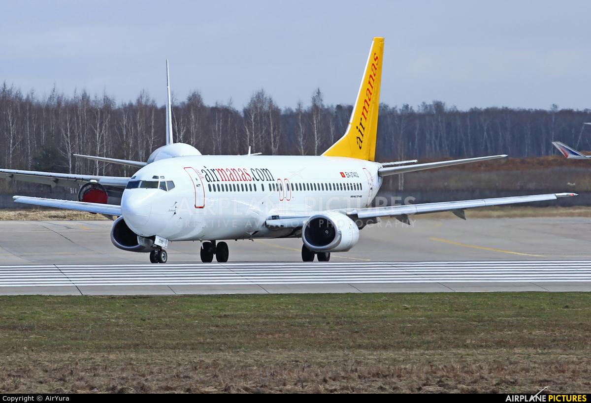 Air Manas EX-37402 aircraft at Moscow - Domodedovo