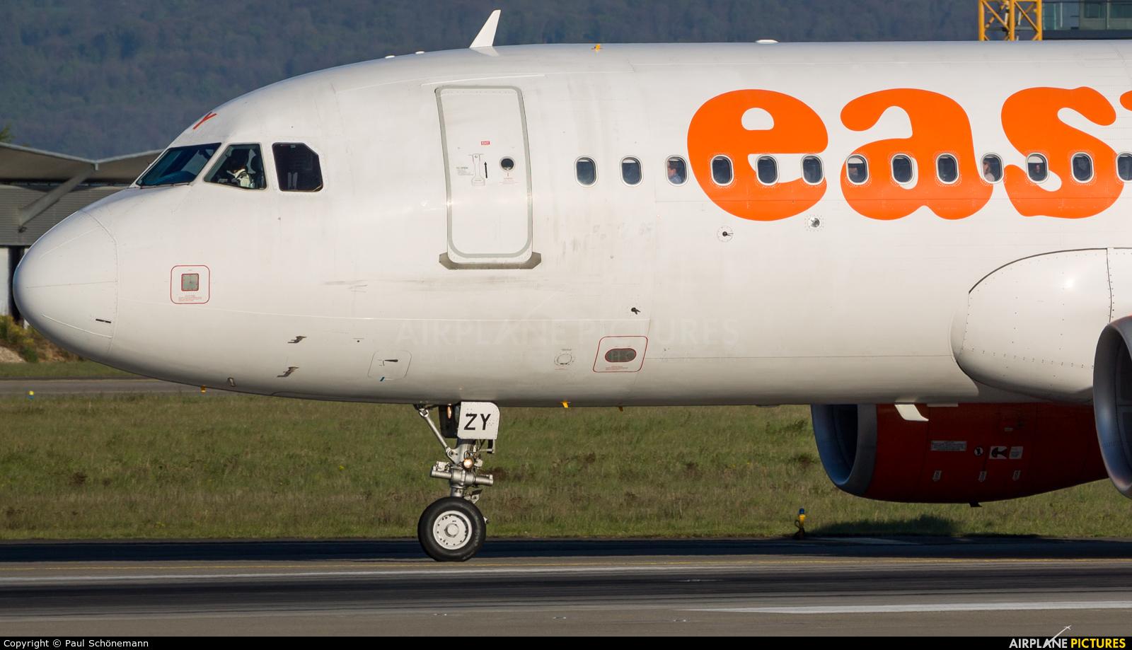 easyJet Switzerland HB-JZY aircraft at Basel - Mulhouse- Euro
