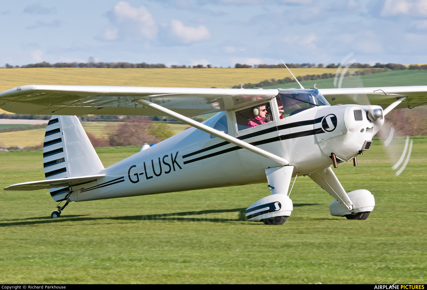 Private G-LUSK aircraft at Old Sarum