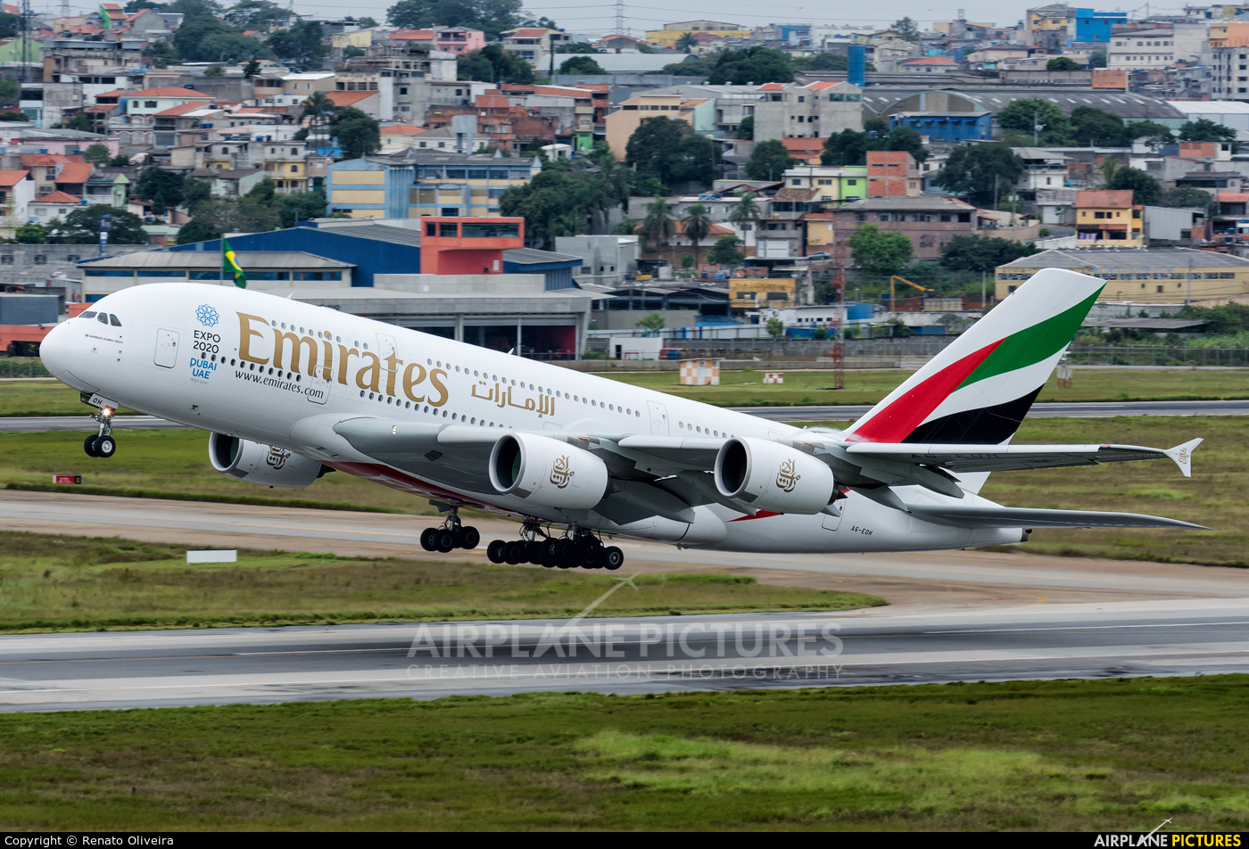 Emirates Airlines A6-EOH aircraft at São Paulo - Guarulhos