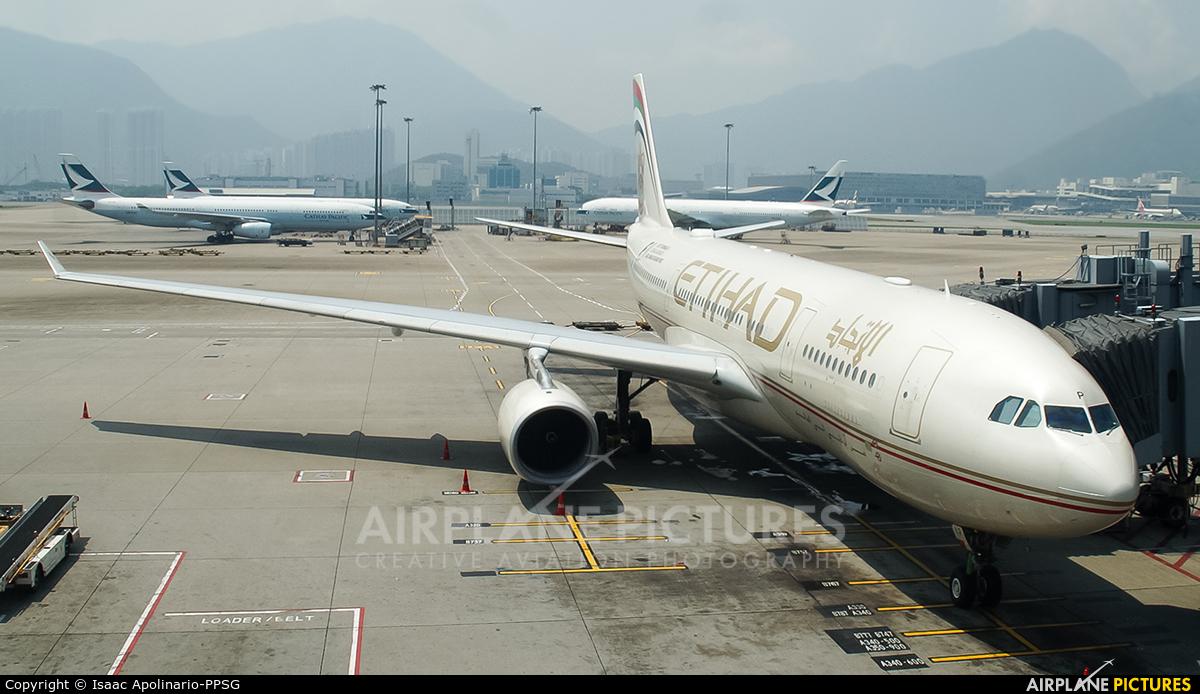 Etihad Airways A6-EYP aircraft at HKG - Chek Lap Kok Intl