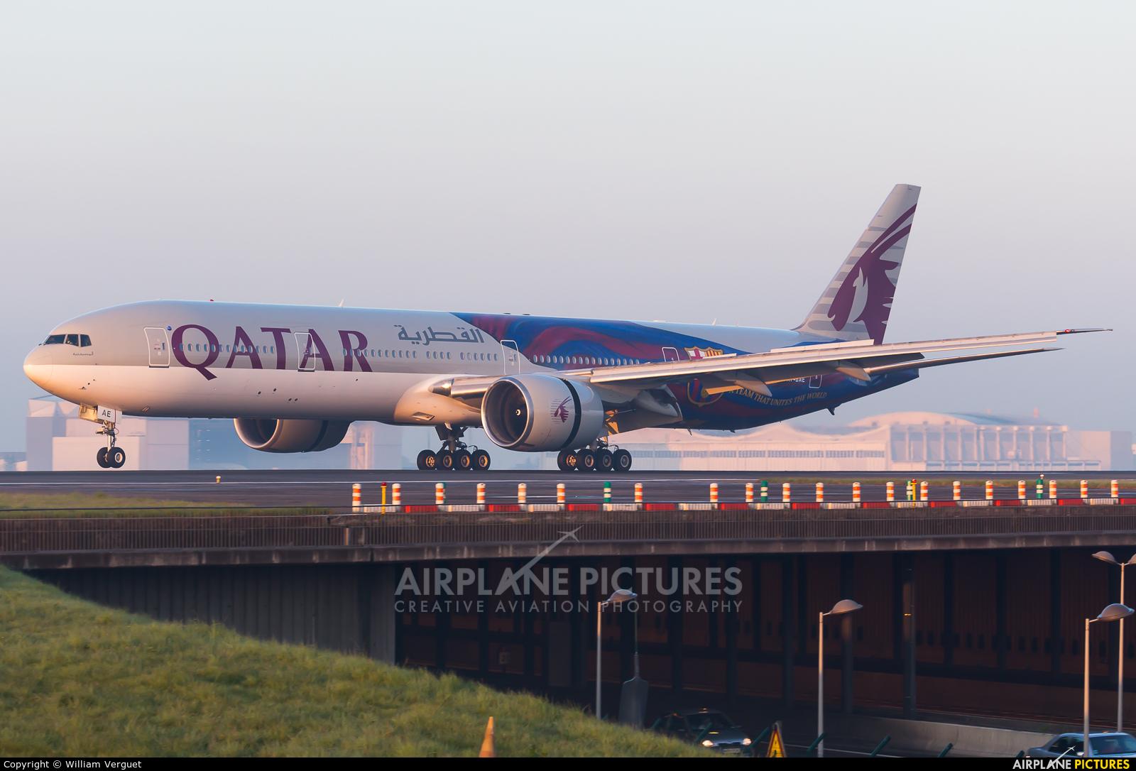 Qatar Airways A7-BAE aircraft at Paris - Charles de Gaulle
