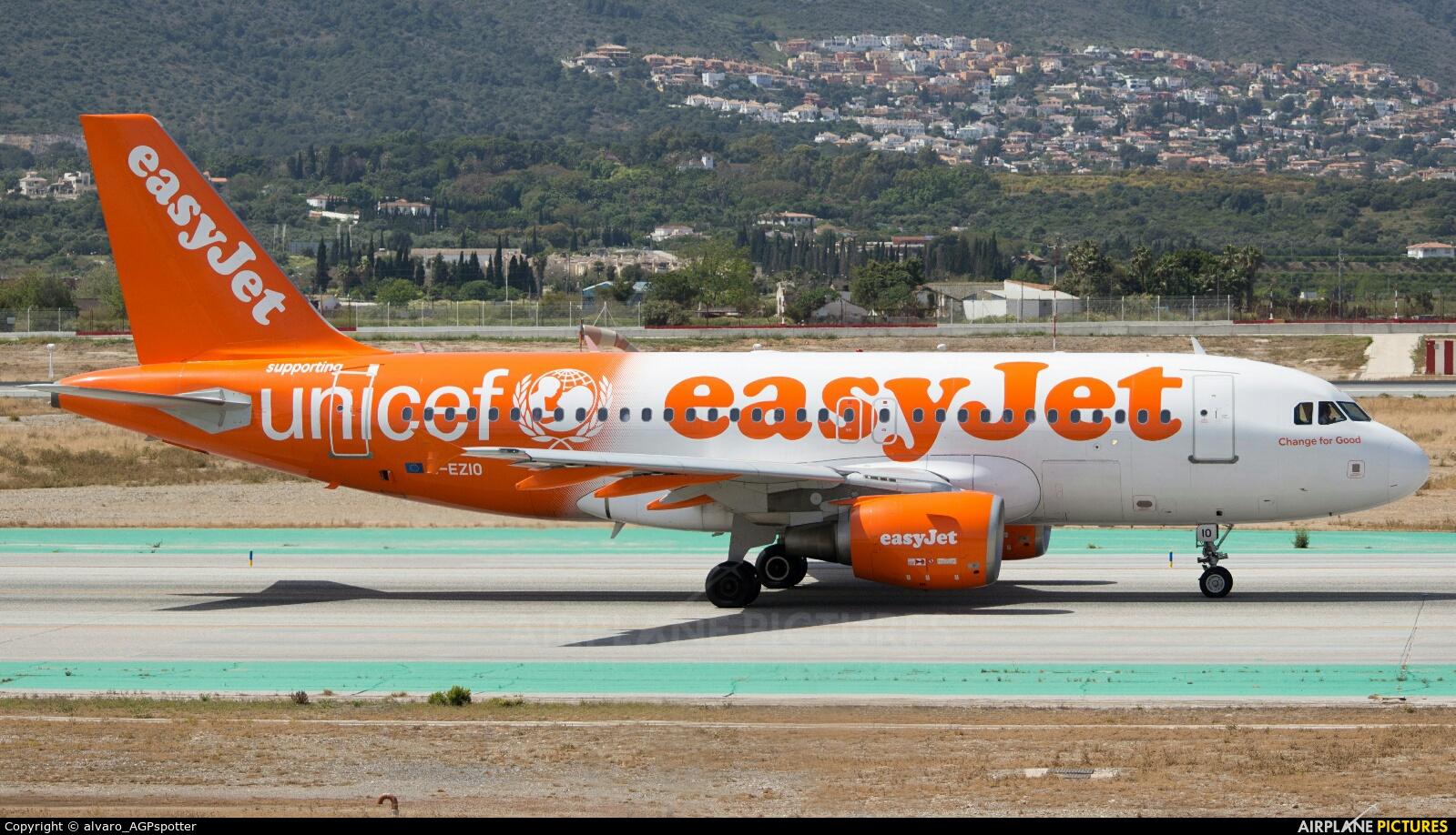 easyJet G-EZIO aircraft at Málaga