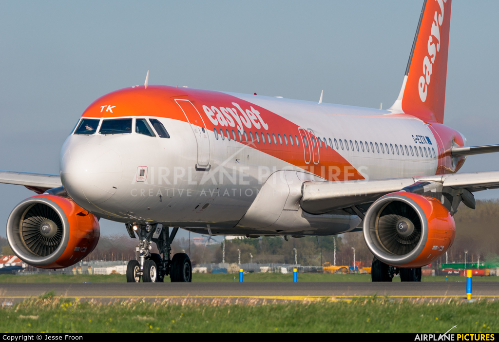 easyJet G-EZTX aircraft at Amsterdam - Schiphol