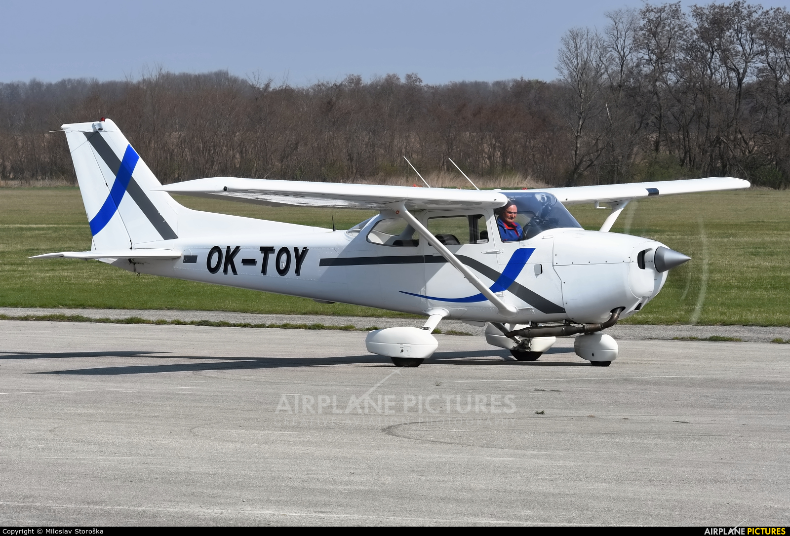 Blue Sky Service OK-TOY aircraft at Trnava- Boleráz
