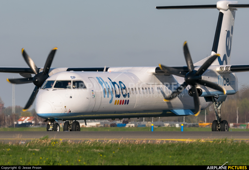 Flybe G-ECOF aircraft at Amsterdam - Schiphol