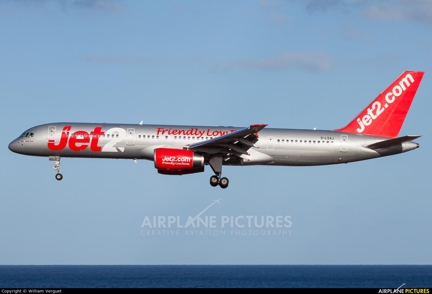 Jet2 G-LSAJ aircraft at Lanzarote - Arrecife