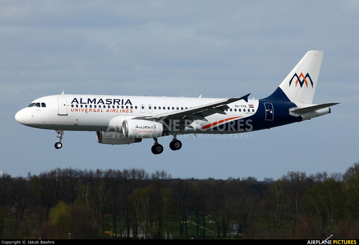Al Masria SU-TCE aircraft at Hannover - Langenhagen