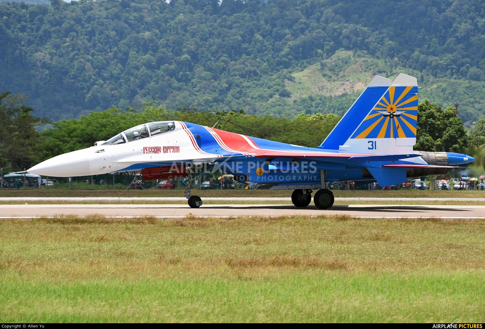 """Russia - Air Force """"Russian Knights"""" 31 aircraft at Langkawi"""