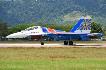 "31 - Russia - Air Force ""Russian Knights"" Sukhoi Su-30SM"