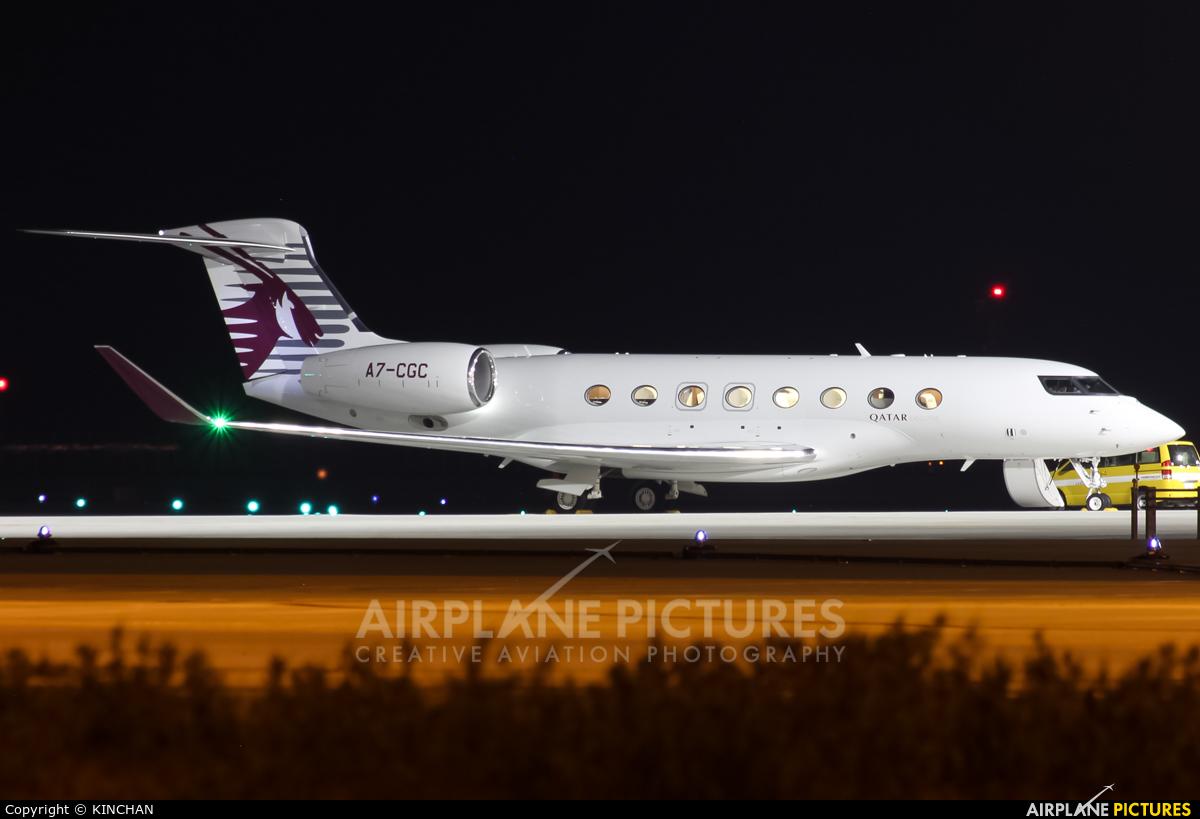 Qatar Executive A7-CGC aircraft at Chubu Centrair Intl