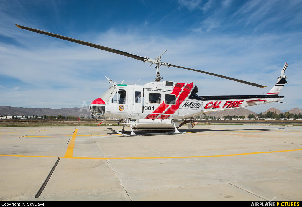 California - Dept. of Forestry & Fire Protection N491DF aircraft at Hemet, CA
