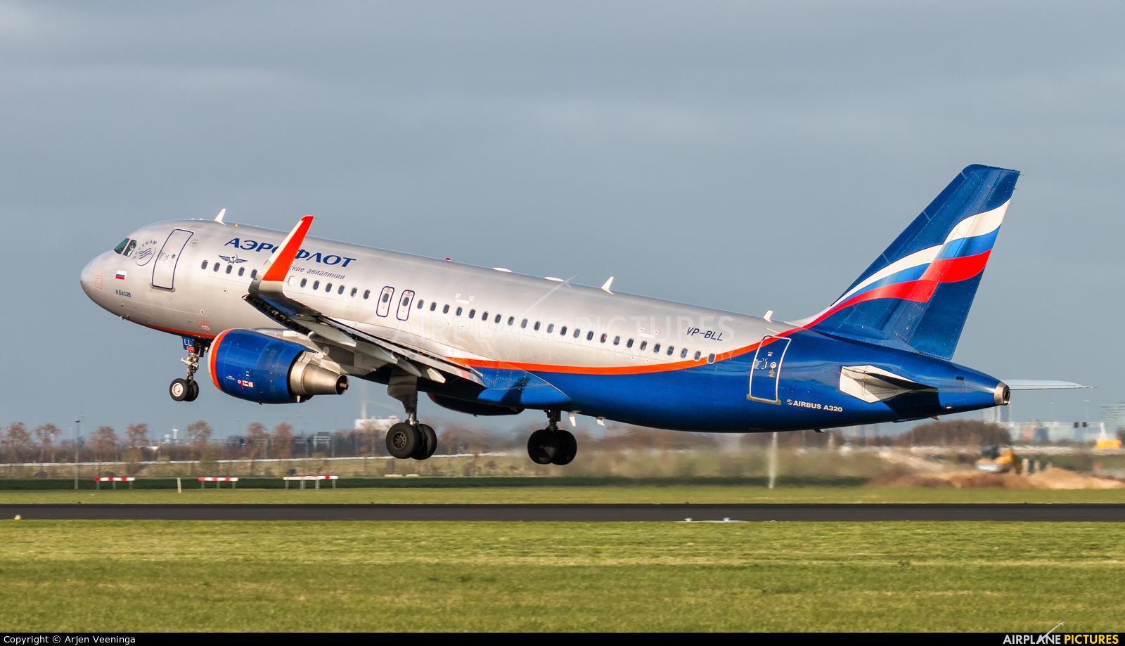 Aeroflot VP-BLL aircraft at Amsterdam - Schiphol