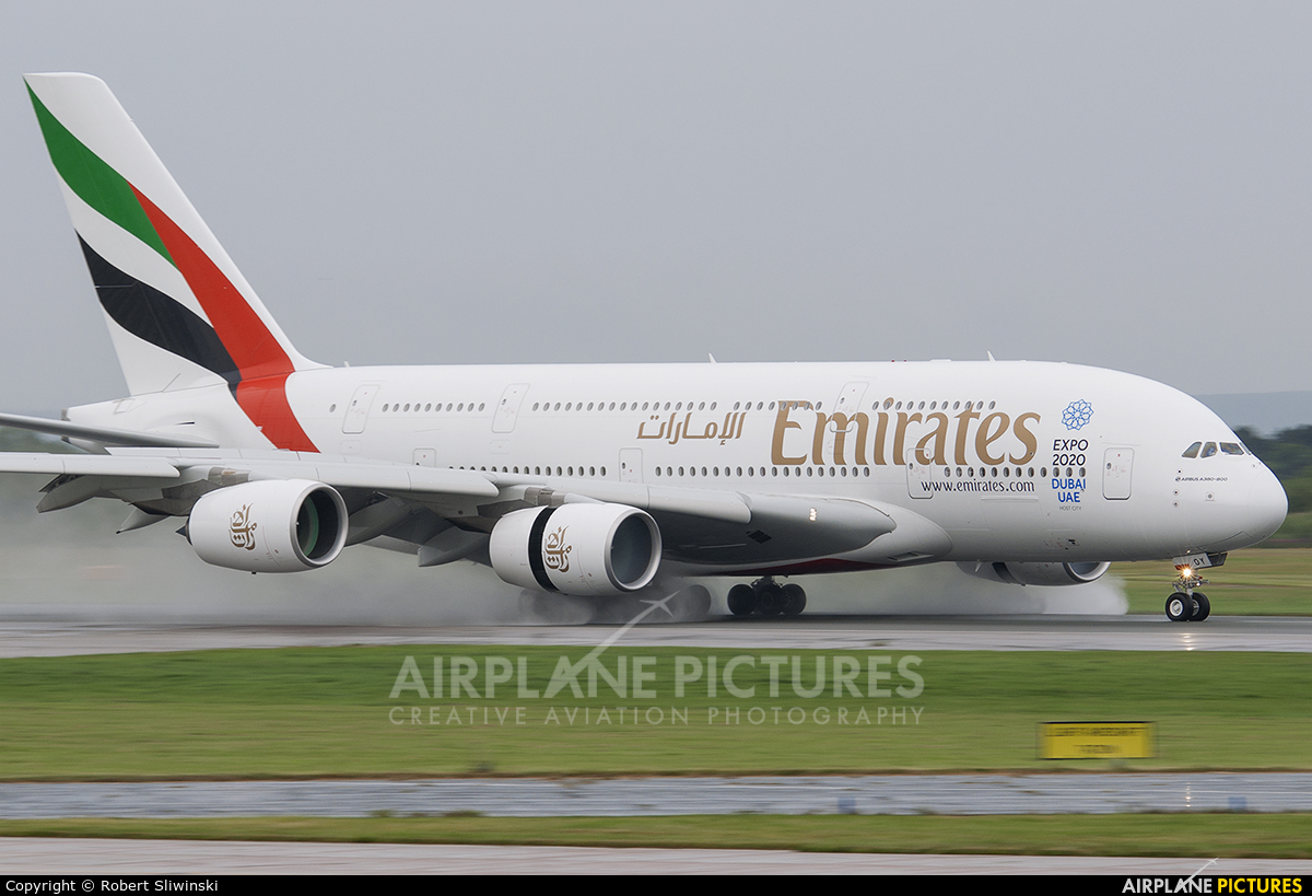 Emirates Airlines A6-EDY aircraft at Manchester