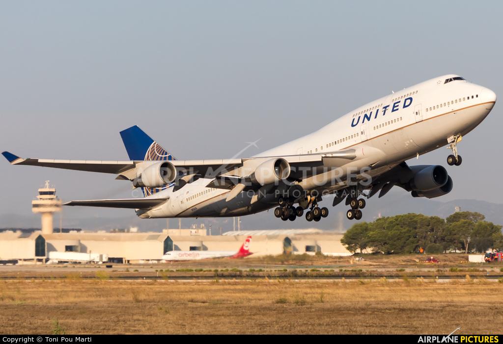 United Airlines N116UA aircraft at Palma de Mallorca