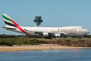 Rare visit of Emirates Sky Cargo 747F to Sydney title=