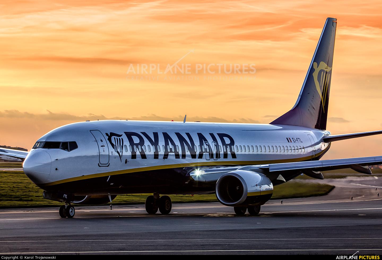 Ryanair EI-FTL aircraft at Warsaw - Frederic Chopin