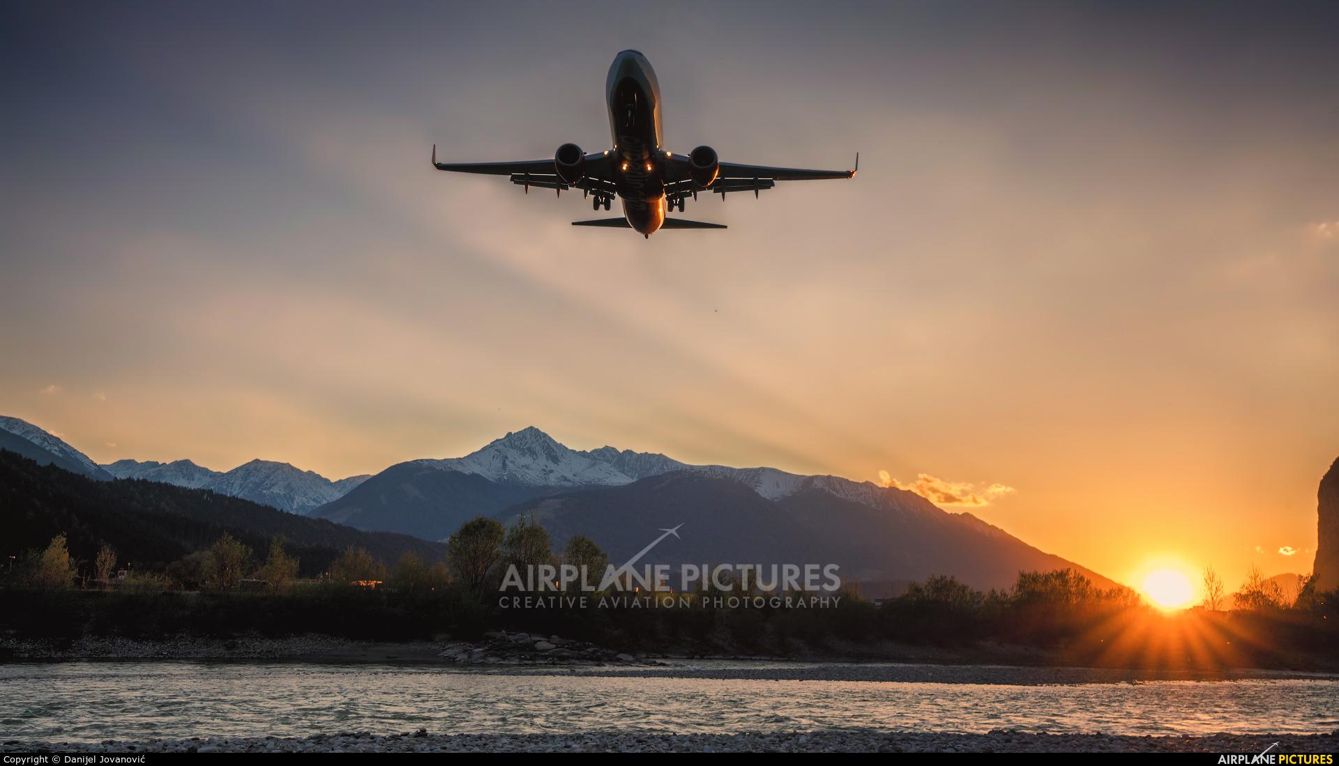 Air Berlin D-ABMQ aircraft at Innsbruck