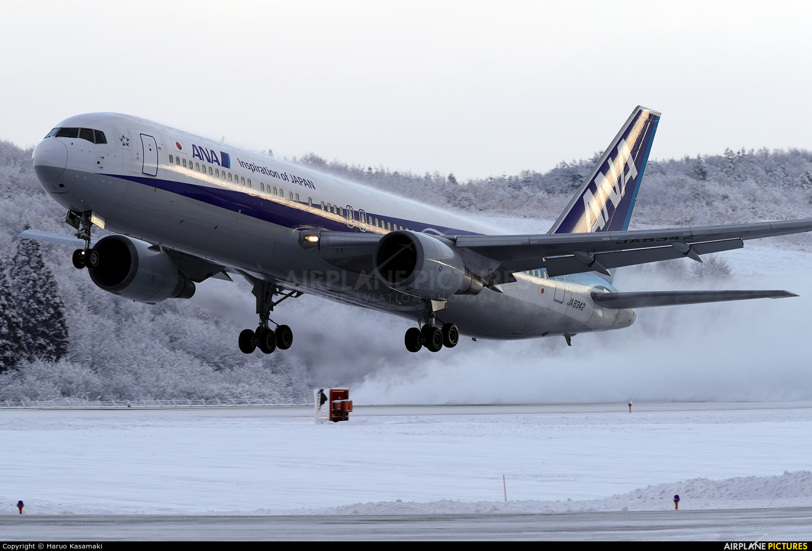 ANA - All Nippon Airways JA8342 aircraft at Akita