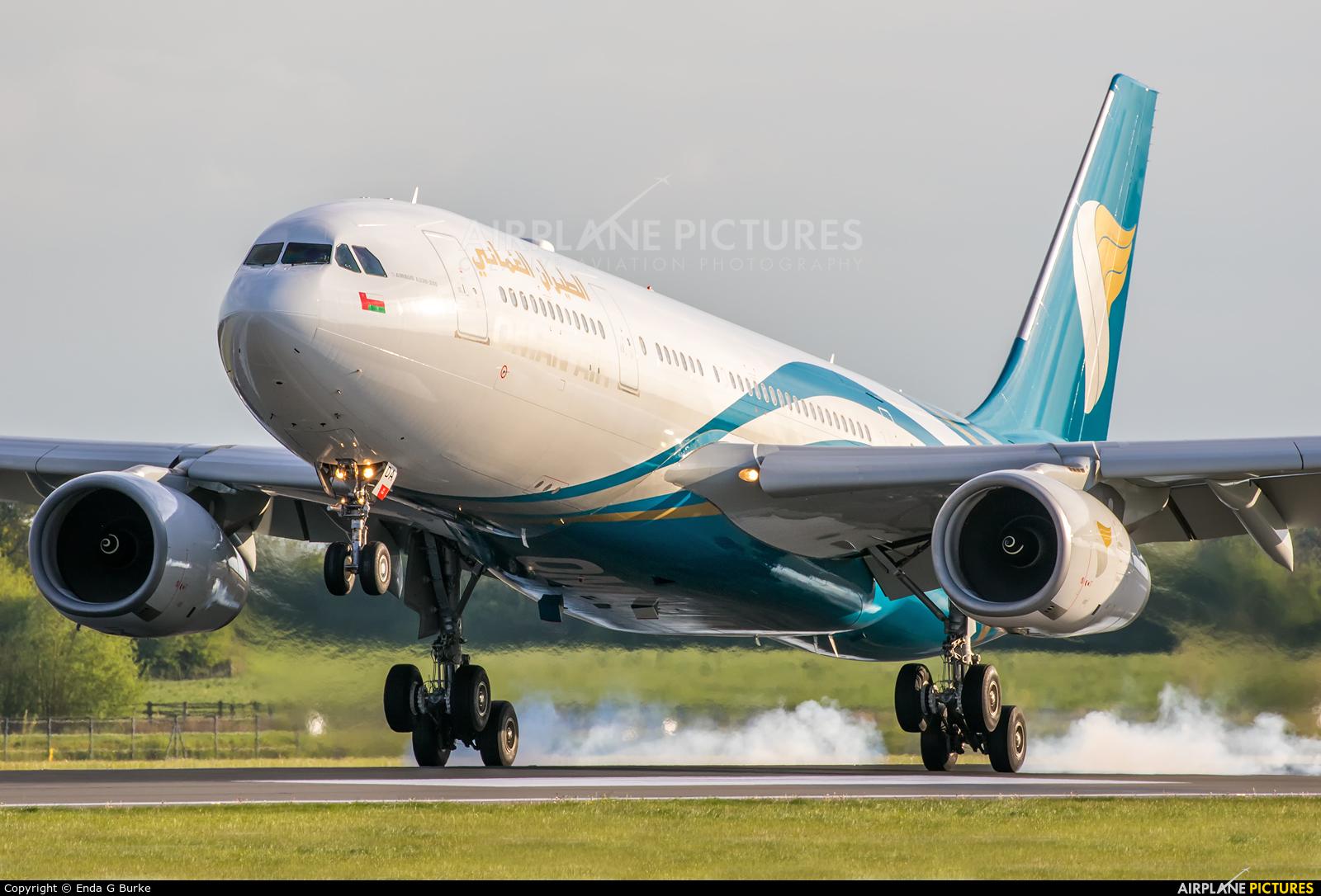 Oman Air A4O-DA aircraft at Manchester