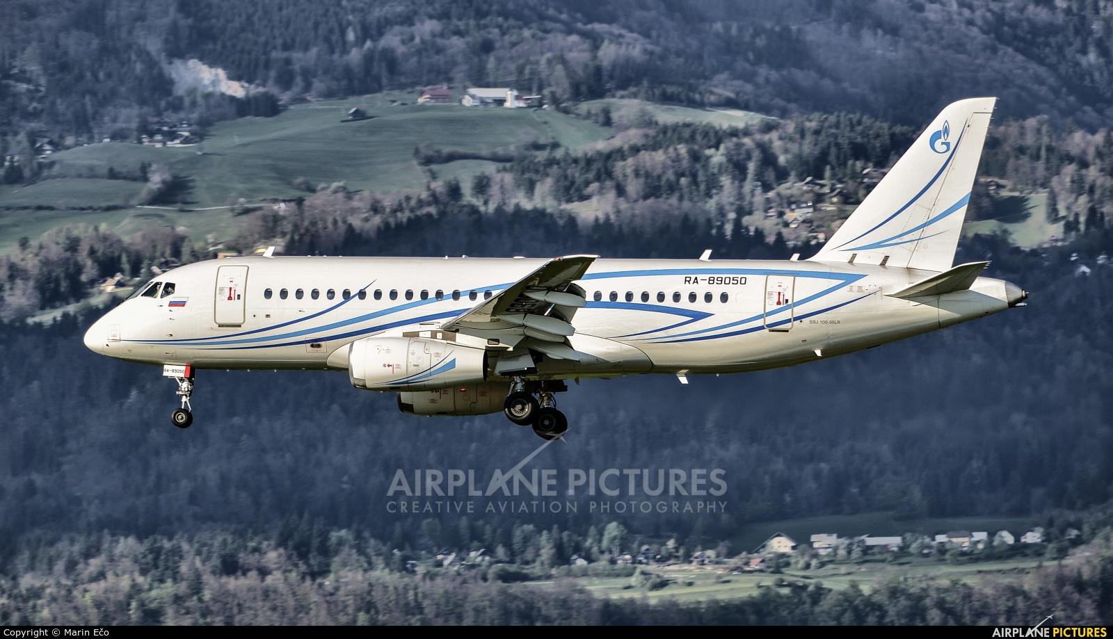 Gazpromavia RA-89050 aircraft at Ljubljana - Brnik