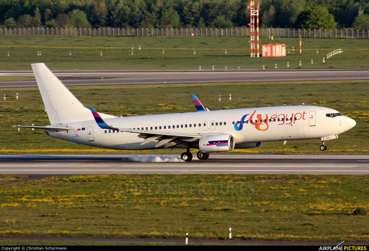 FlyEgypt OM-GTE aircraft at Düsseldorf