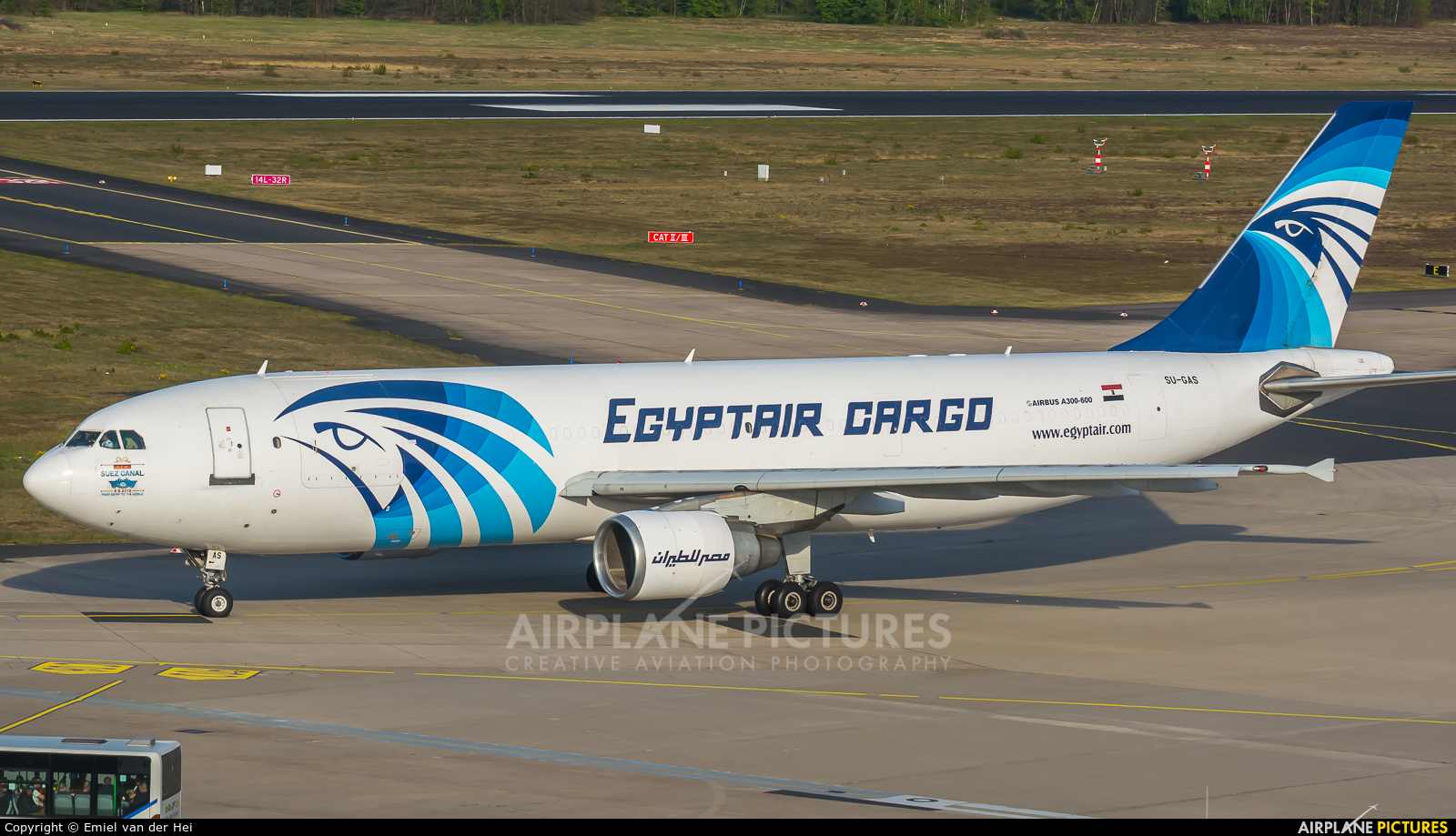 Egyptair Cargo SU-GAS aircraft at Cologne Bonn - Konrad Adenauer