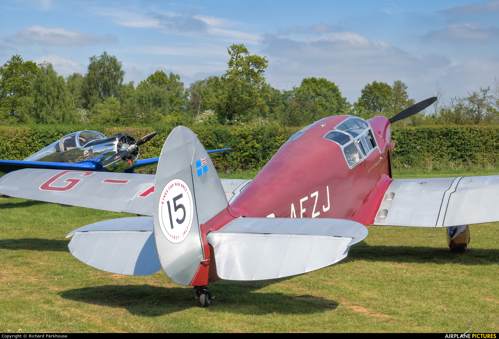 Private G-AEZJ aircraft at Old Warden